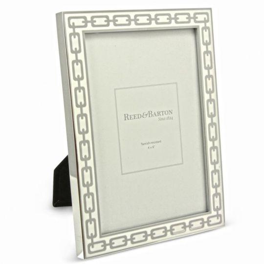 Reed Barton Silver Link White Frame 4x6 Borsheims