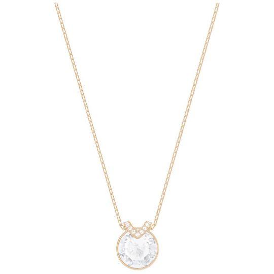 Swarovski Bella Rose Tone White Crystal Pendant