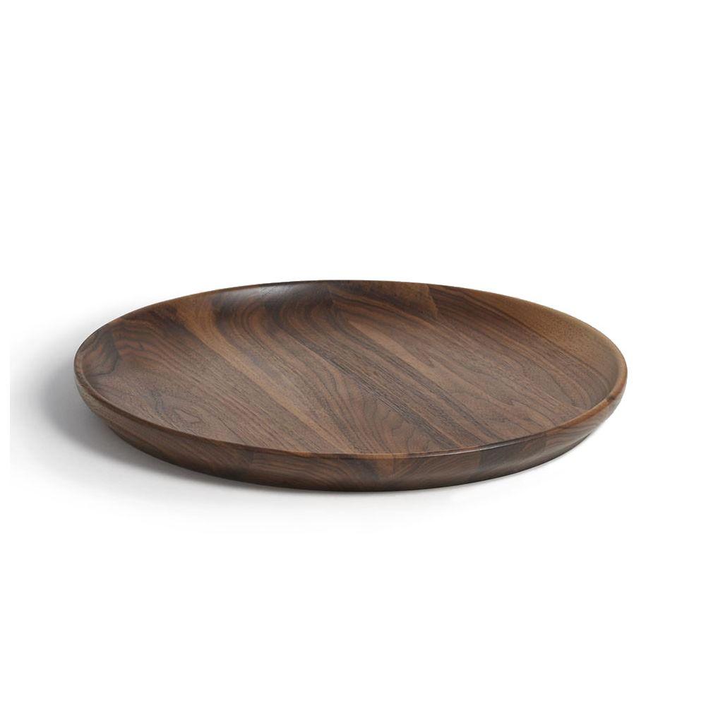 Andrew Pearce Black Walnut Round Serving Platter 16