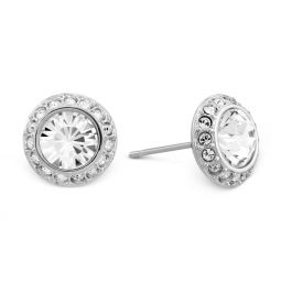 Swarovski Angelic White Tone Pierced Earrings
