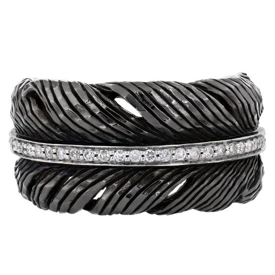 Beautiful Hand Made Long Feather Hand Cuffs Rhinestone and Diamond Band. Black /& White Feather Arm Band