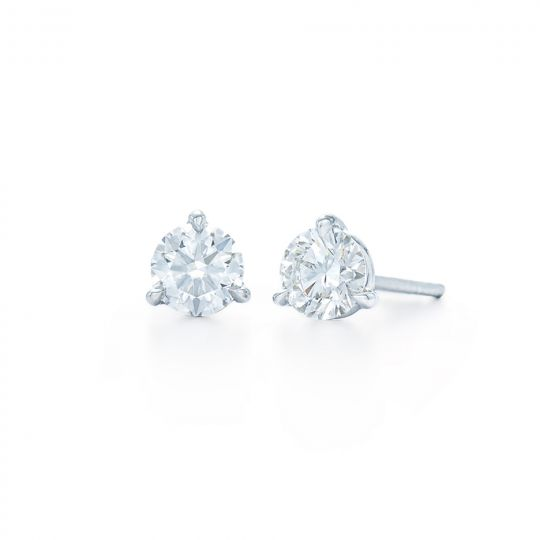 Kwiat Platinum Diamond Stud Earrings 0 91cttw