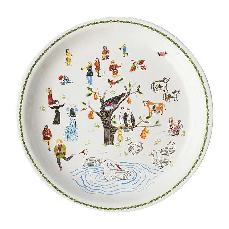 Juliska 12 Days of Christmas Round Platter | Borsheims