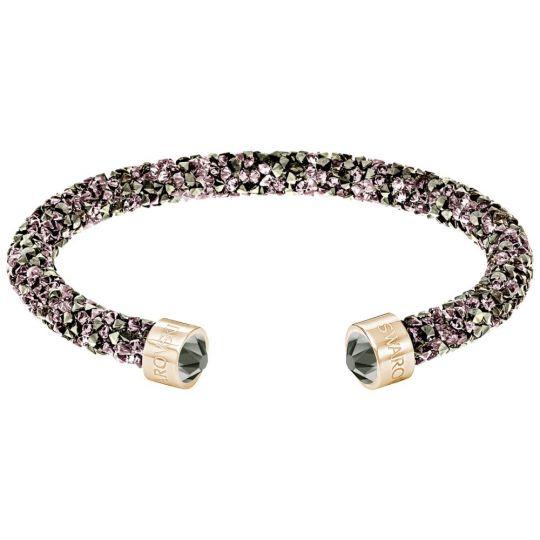 Swarovski Crystaldust Rose Tone Multi-Color Crystal Cuff Bracelet ...